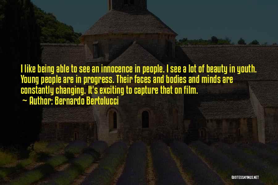 Innocence And Beauty Quotes By Bernardo Bertolucci