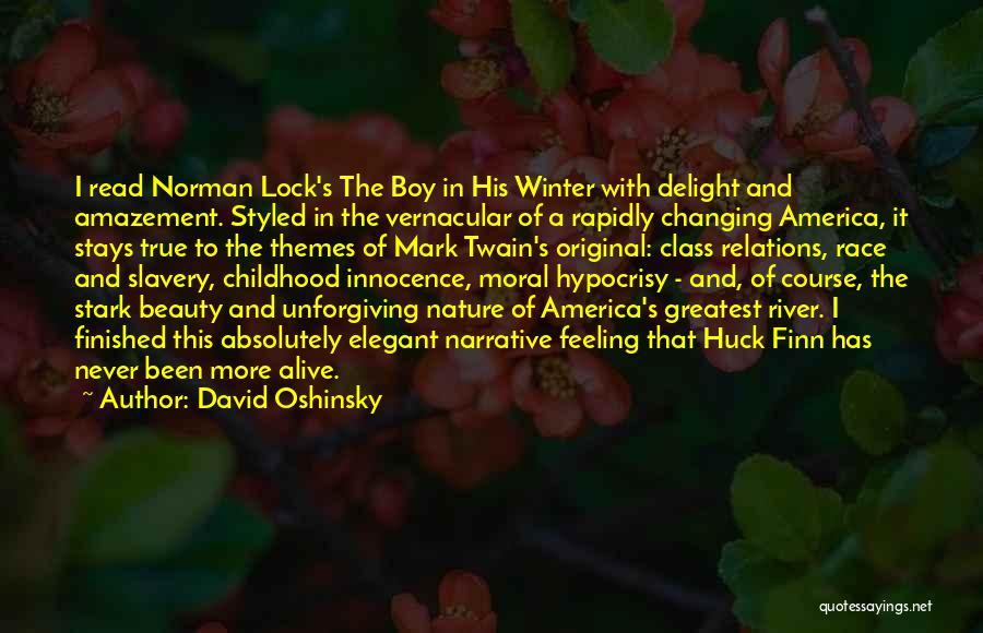 Innocence And Beauty Quotes By David Oshinsky