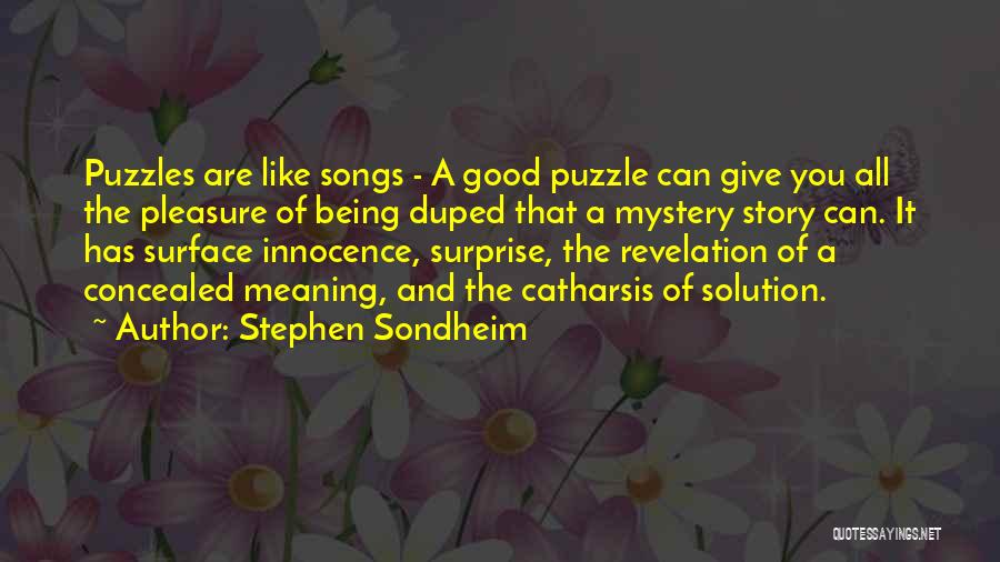 Innocence And Beauty Quotes By Stephen Sondheim