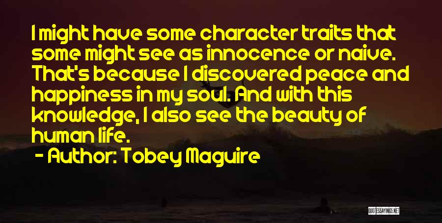 Innocence And Beauty Quotes By Tobey Maguire