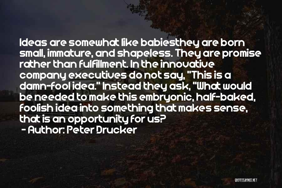 Innovative Ideas Quotes By Peter Drucker