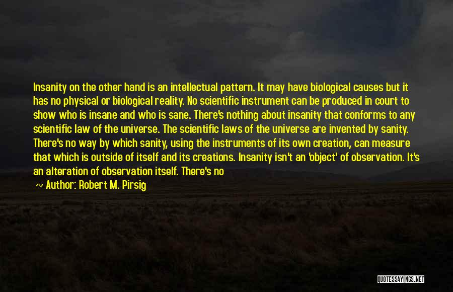 Insane Or Sane Quotes By Robert M. Pirsig
