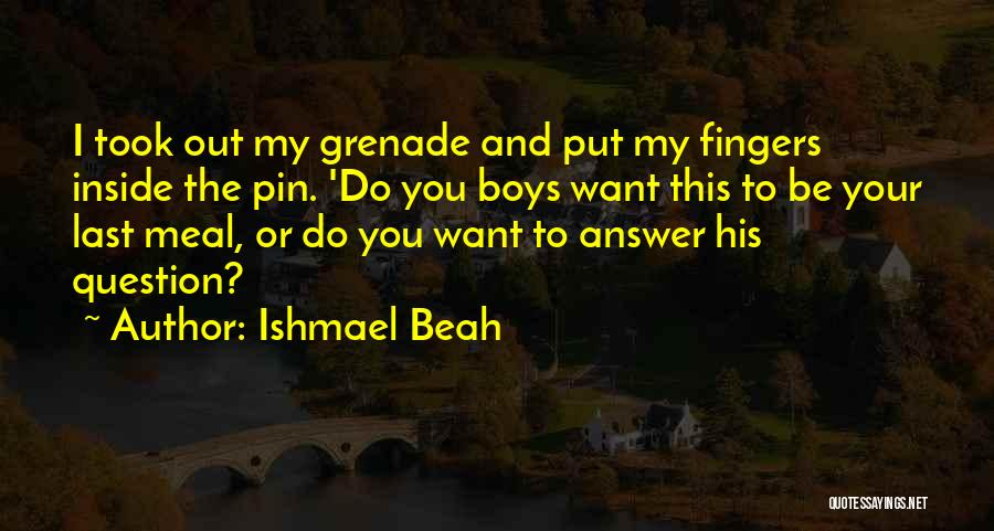 Inside And Out Quotes By Ishmael Beah