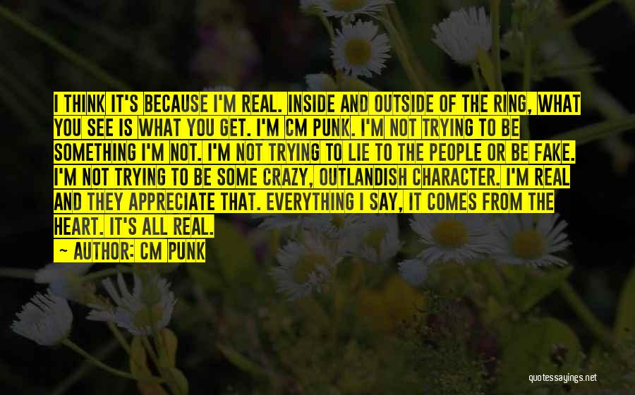 Inside Not Outside Quotes By CM Punk