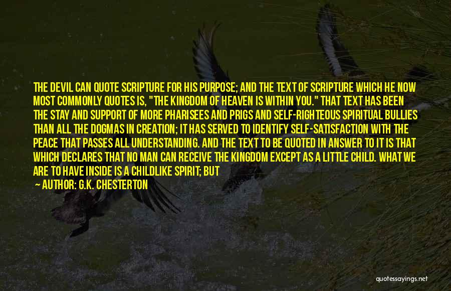 Inside Not Outside Quotes By G.K. Chesterton