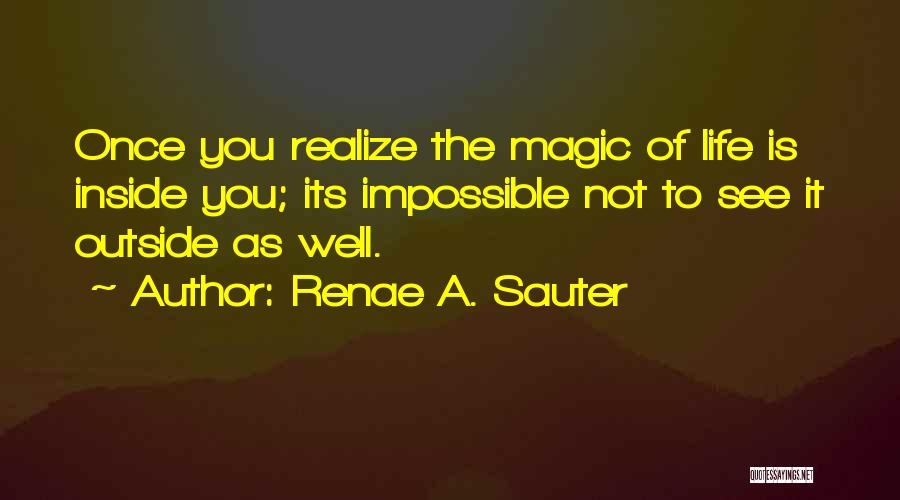 Inside Not Outside Quotes By Renae A. Sauter