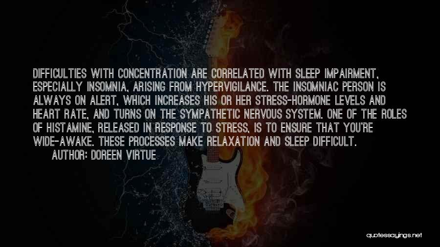 Insomnia Quotes By Doreen Virtue