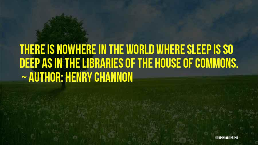 Insomnia Quotes By Henry Channon
