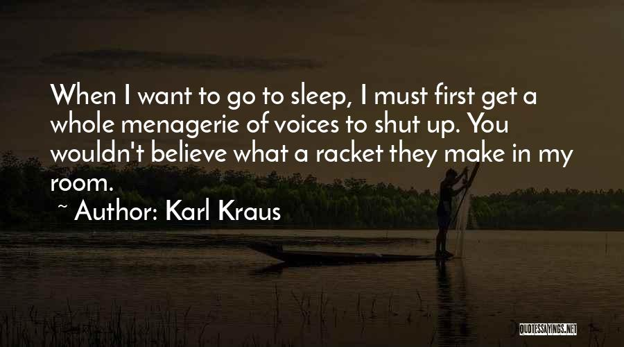 Insomnia Quotes By Karl Kraus