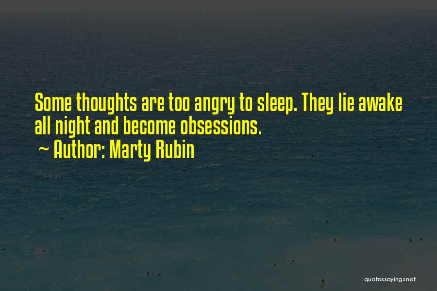 Insomnia Quotes By Marty Rubin