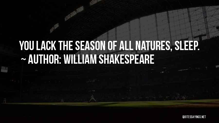 Insomnia Quotes By William Shakespeare