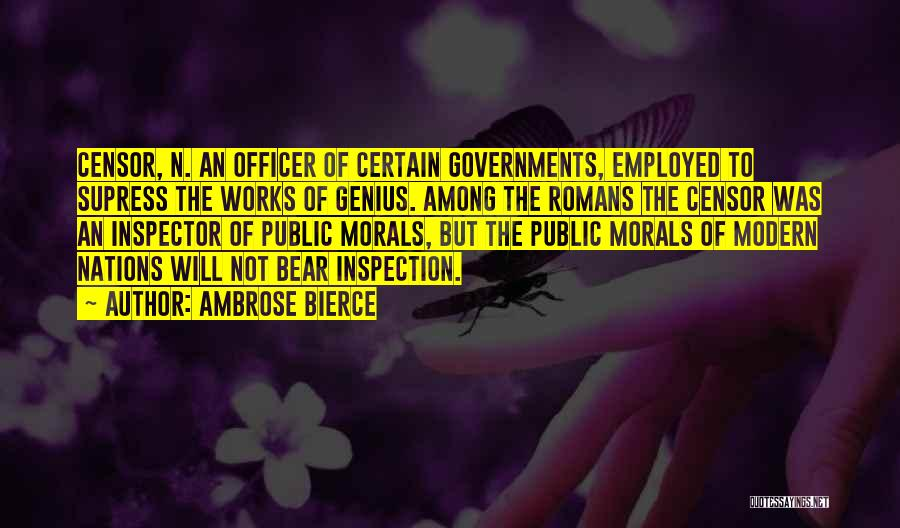 Inspector Quotes By Ambrose Bierce