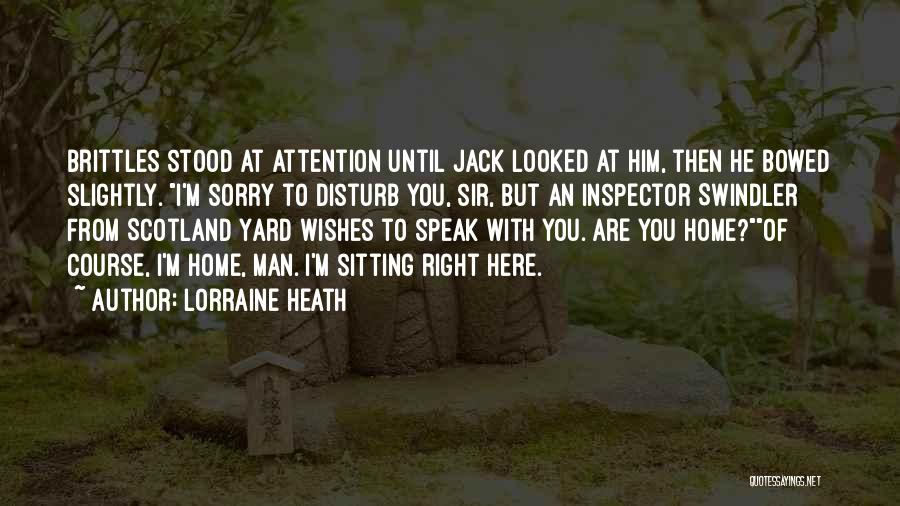 Inspector Quotes By Lorraine Heath