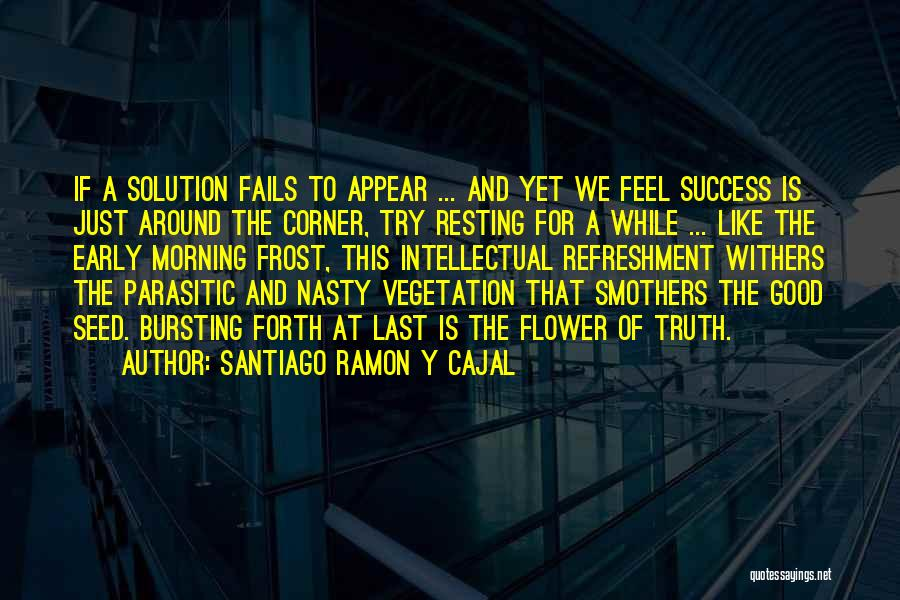 Inspirational Corner Quotes By Santiago Ramon Y Cajal