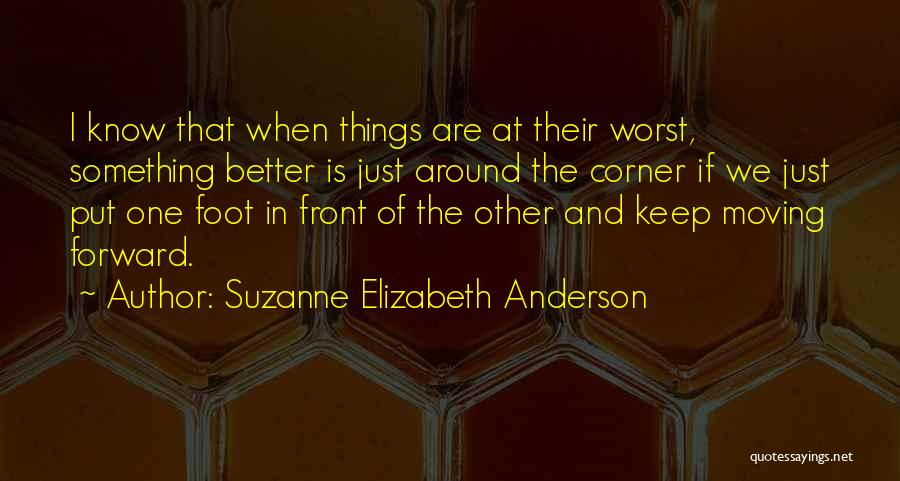 Inspirational Corner Quotes By Suzanne Elizabeth Anderson