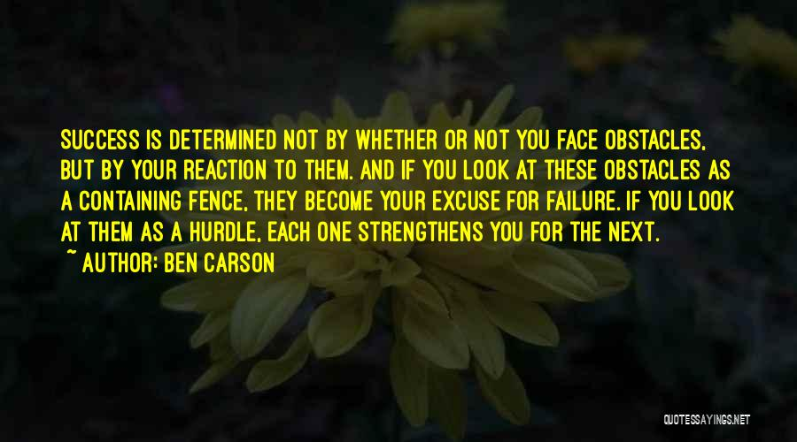 Inspirational Failure Quotes By Ben Carson
