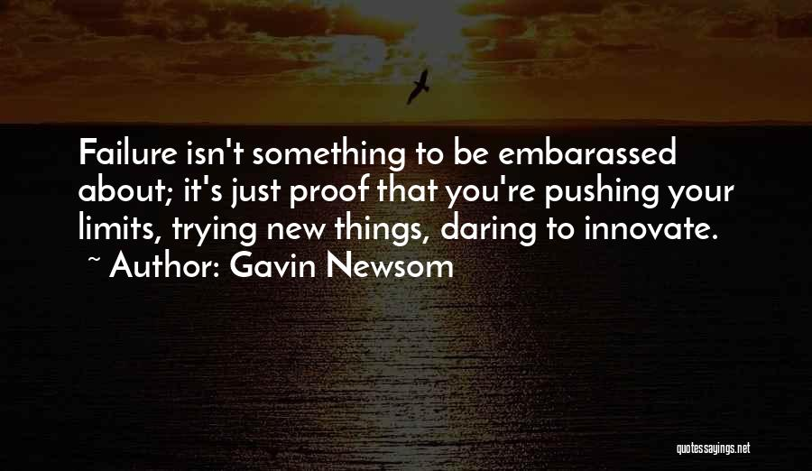 Inspirational Failure Quotes By Gavin Newsom