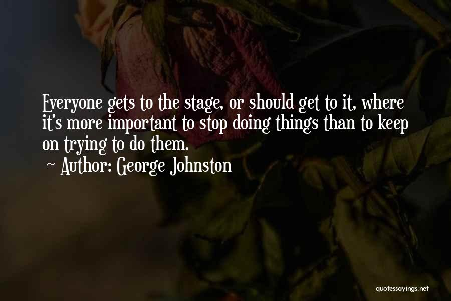 Inspirational Failure Quotes By George Johnston