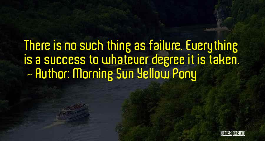 Inspirational Failure Quotes By Morning Sun Yellow Pony