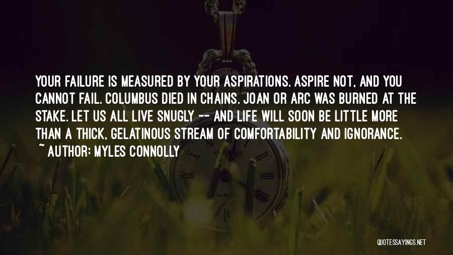 Inspirational Failure Quotes By Myles Connolly