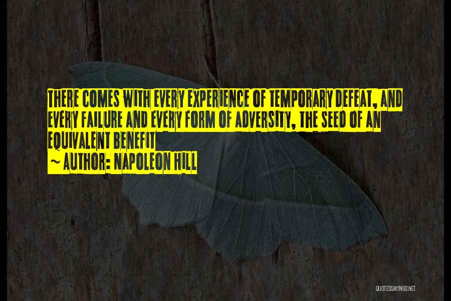Inspirational Failure Quotes By Napoleon Hill
