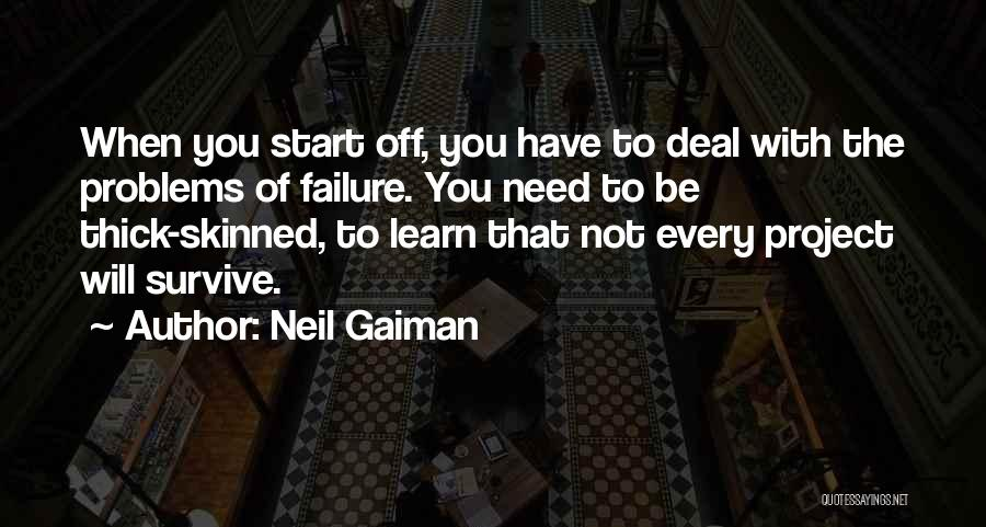 Inspirational Failure Quotes By Neil Gaiman