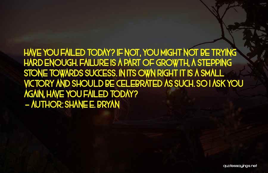 Inspirational Failure Quotes By Shane E. Bryan