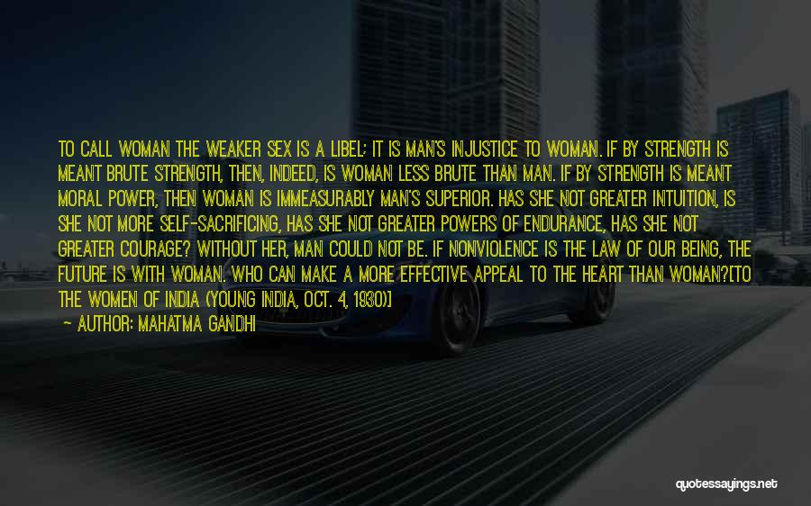 Inspirational Feminist Quotes By Mahatma Gandhi