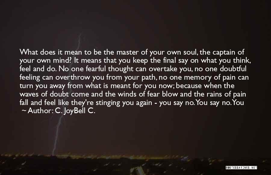 Inspirational Sayings And Quotes By C. JoyBell C.