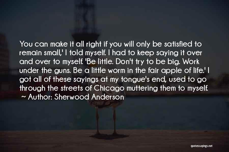 Inspirational Sayings And Quotes By Sherwood Anderson