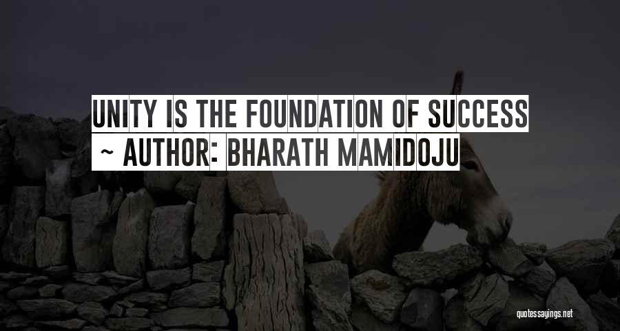 Inspirational Unity Quotes By Bharath Mamidoju