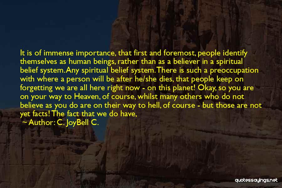 Inspirational Unity Quotes By C. JoyBell C.