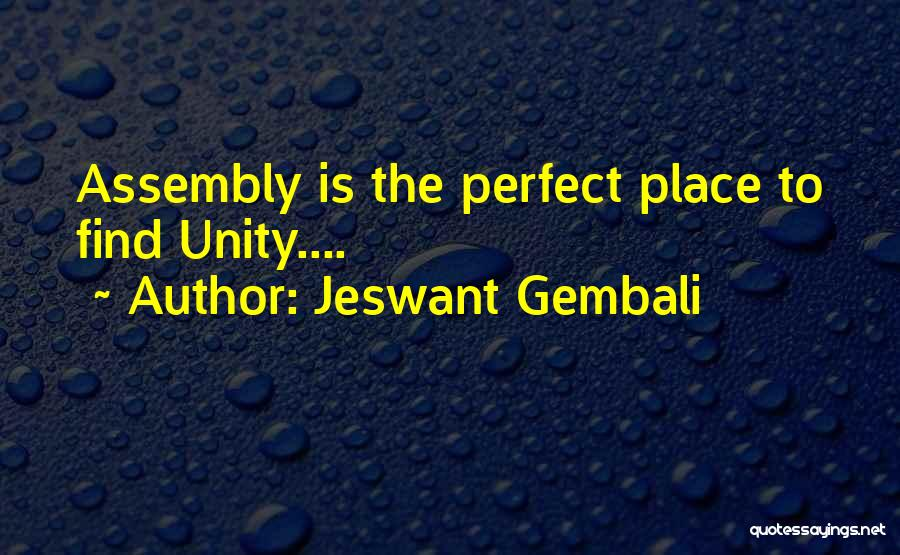 Inspirational Unity Quotes By Jeswant Gembali