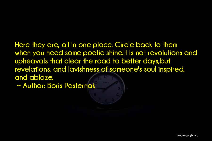 Inspired To Someone Quotes By Boris Pasternak