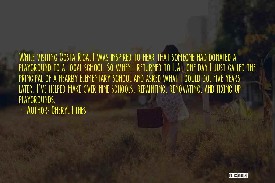 Inspired To Someone Quotes By Cheryl Hines
