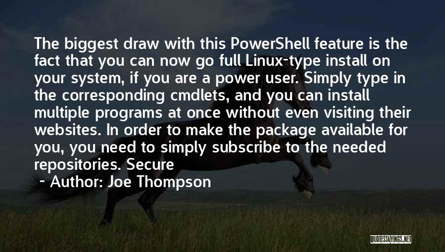 Install Quotes By Joe Thompson