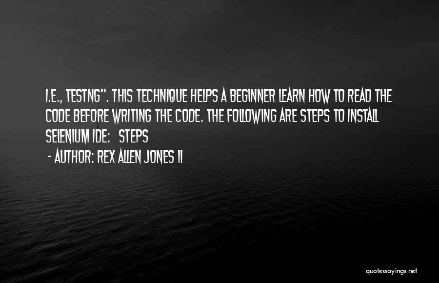 Install Quotes By Rex Allen Jones II