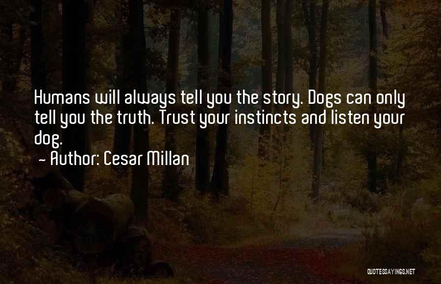 Instinct Trust Quotes By Cesar Millan