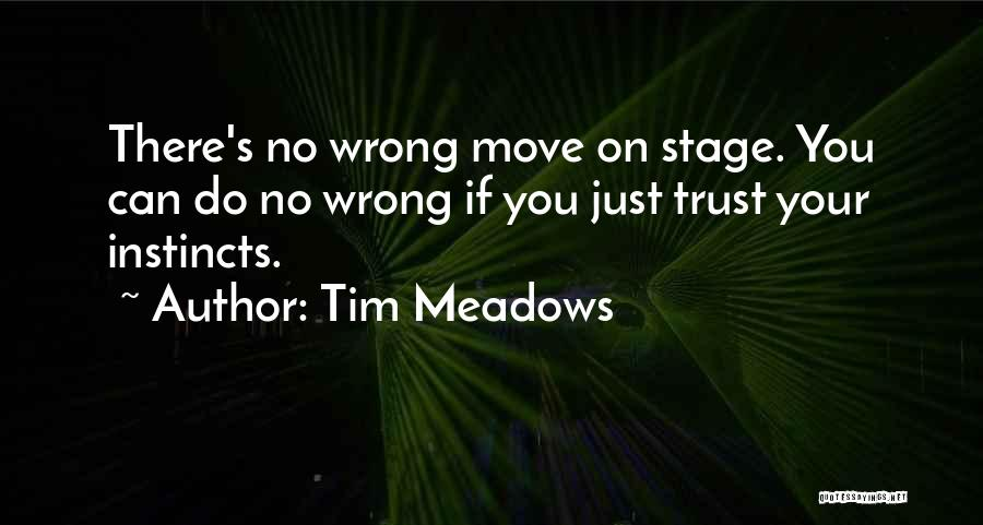 Instinct Trust Quotes By Tim Meadows