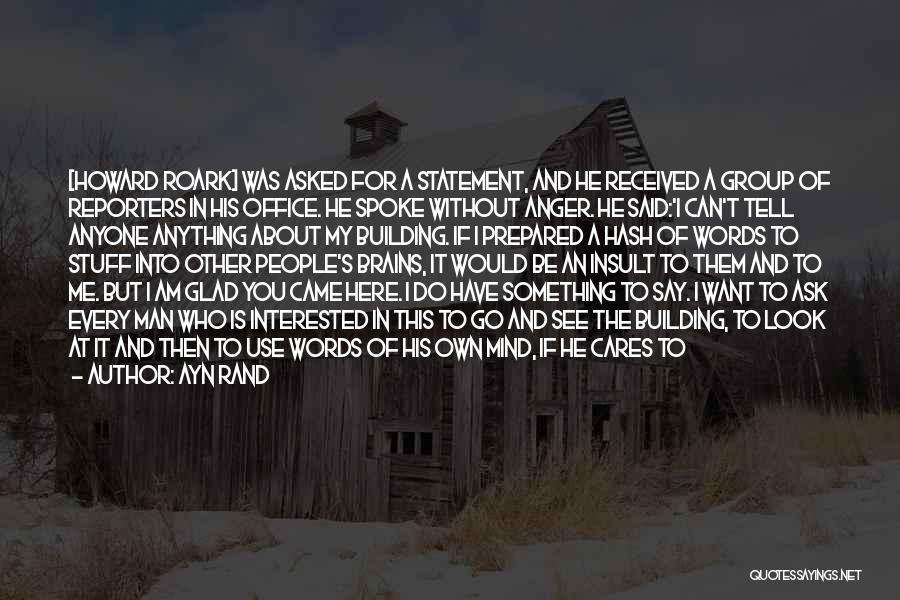 Insult Words Quotes By Ayn Rand