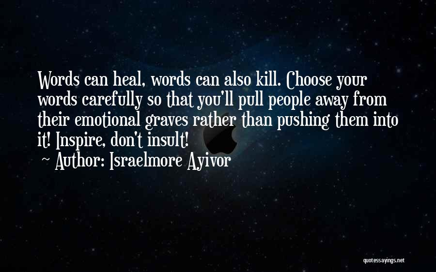 Insult Words Quotes By Israelmore Ayivor
