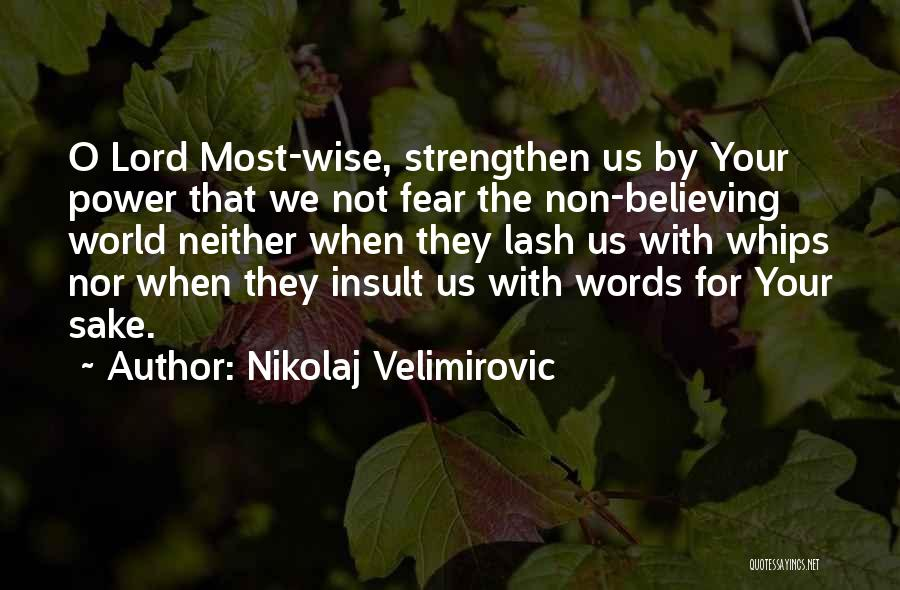 Insult Words Quotes By Nikolaj Velimirovic