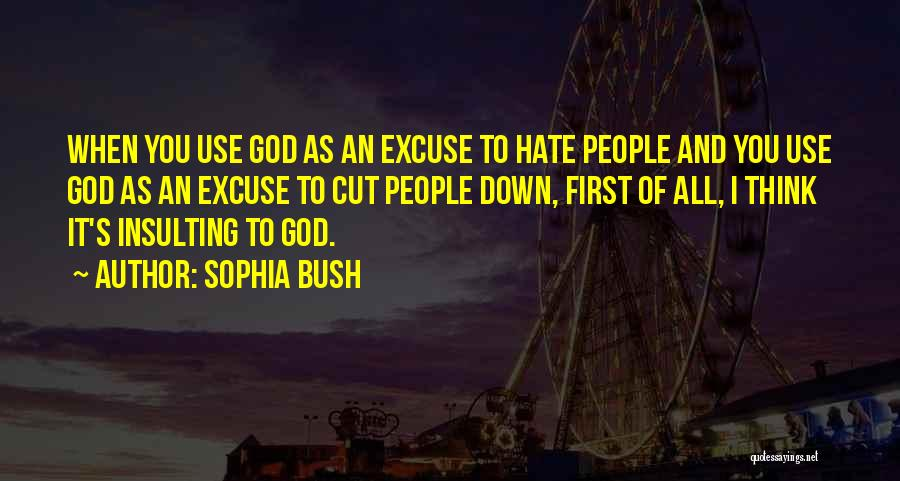 Insulting God Quotes By Sophia Bush
