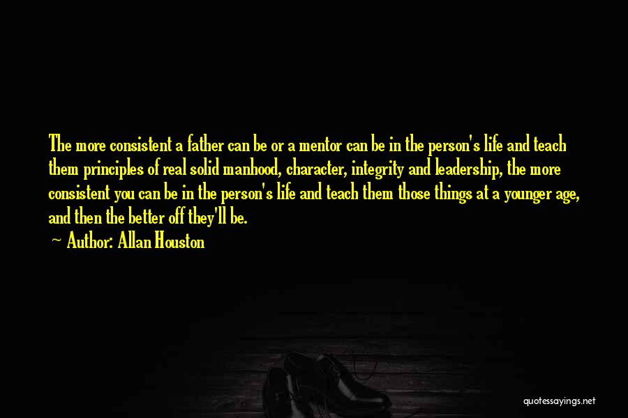 Integrity And Leadership Quotes By Allan Houston