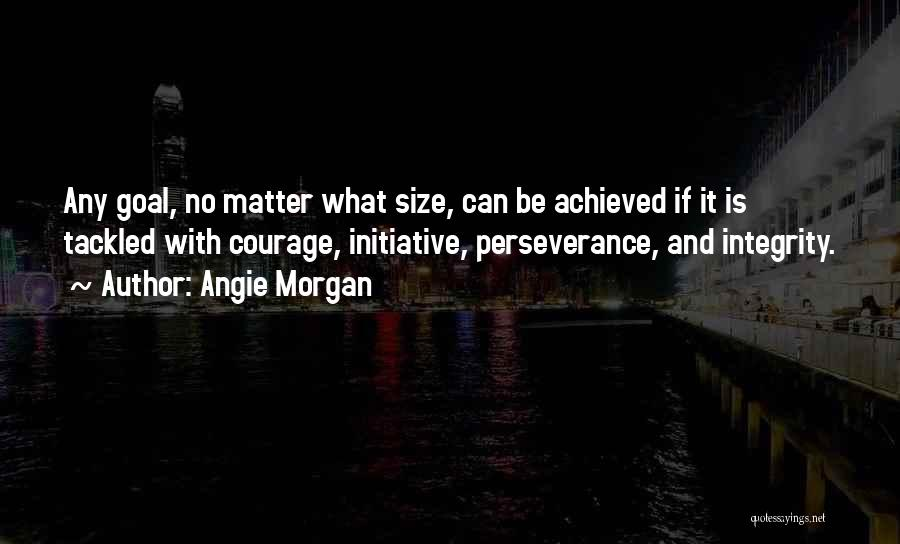 Integrity And Leadership Quotes By Angie Morgan