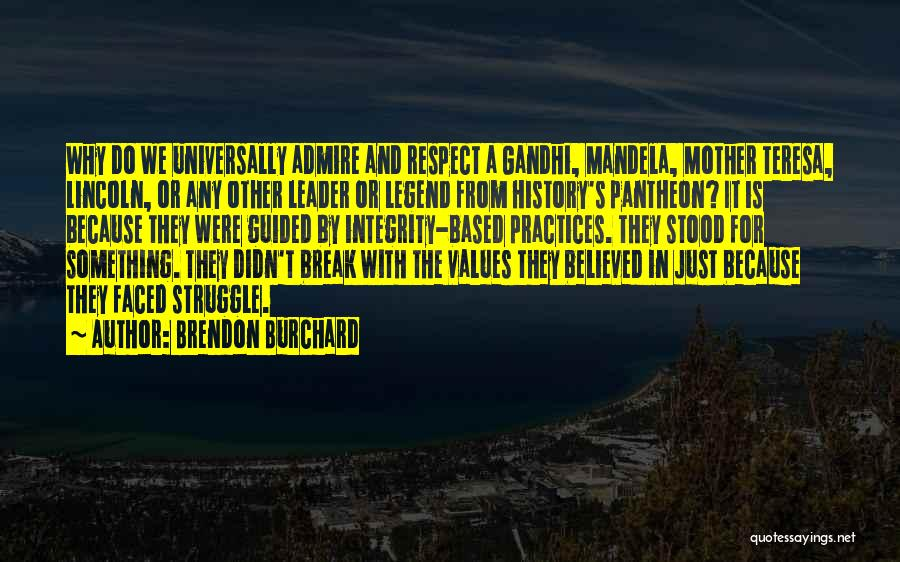 Integrity And Leadership Quotes By Brendon Burchard