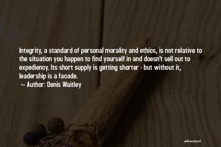 Integrity And Leadership Quotes By Denis Waitley