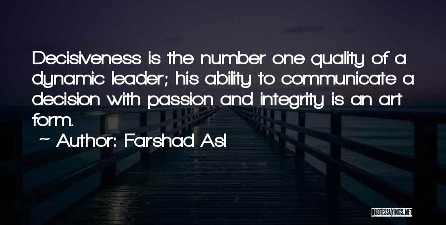 Integrity And Leadership Quotes By Farshad Asl