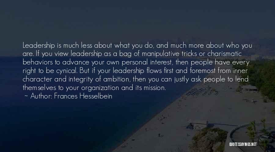 Integrity And Leadership Quotes By Frances Hesselbein