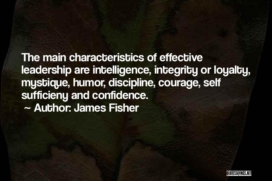 Integrity And Leadership Quotes By James Fisher